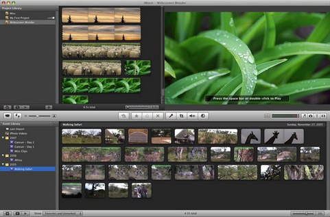 Apple iMovie screenshot (481 pix)