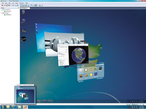VMware Workstation 7.0 screenshot (481 pix)