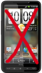 HTC HD2 - niet met Android