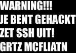 Waarschuwingsscherm iPhone gehackt door McFliatn