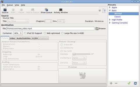 Handbrake 0.9.3 screenshot