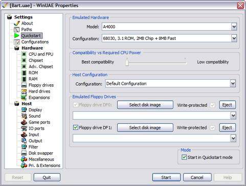 WinUAE 2.0.0 screenshot (481 pix)