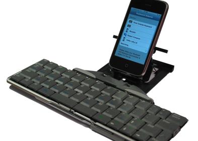 iPhone met bluetooth-toetsenbord
