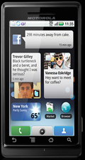 Impressie Sholes Tablet: Milestone met Motoblur-interface