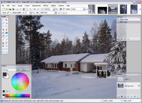 Paint.NET 3.5.2 bèta build 3653 screenshot
