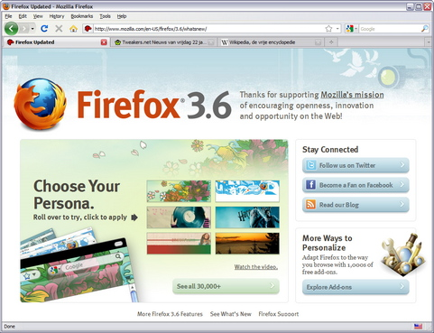 Mozilla Firefox 3.6 screenshot (481 pix)