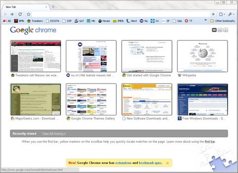 Google Chrome 4.0 screenshot (481 pix)