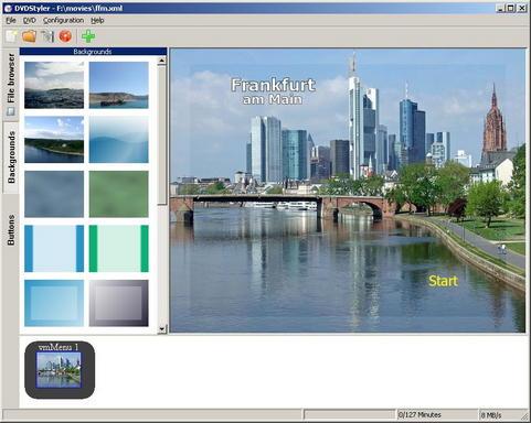 DVDStyler screenshot (481 pix)