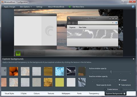WindowBlinds screenshot (481 pix)
