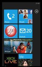 Windows Phone 7 Series met Flash-tiles