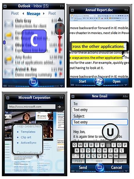 Screenshots van het 'oude' Windows Mobile 7 (bron: Pocketnow)