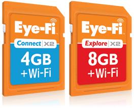Eye-fi Connect X2 en Explore X2