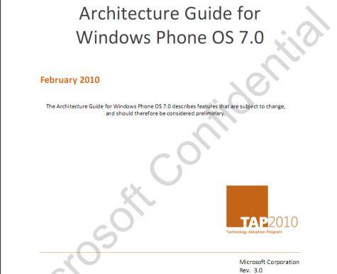 Windows Phone 7 - Microsoft Confidential document