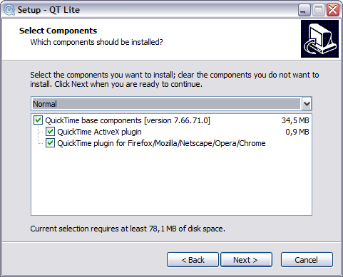 QT Lite 3.2.0 screenshot