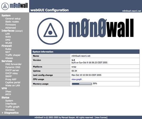 M0n0wall screenshot