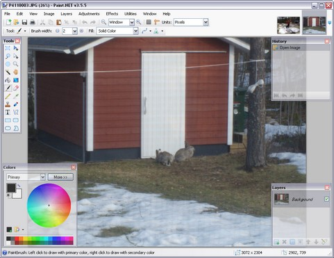 Paint.NET 3.5.5 build 3767 screenshot (481 pix)