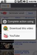 Youtube-downloadfunctie in Dolphin-browser