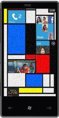 Mockup: toestel uit emulator met Mondriaan-motiefje