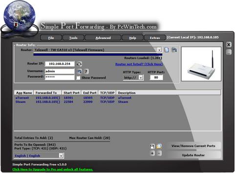 Simple Port Forwarding 3.0.0 screenshot