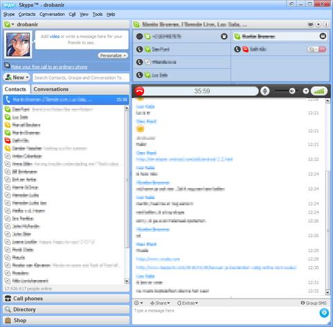 Skype for Windows 4.2 screenshot (481 pix)