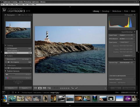 Adobe Lightroom 3.0 screenshot (481 pix)
