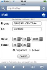 iRail (screenshot: iPhoneclub.nl)