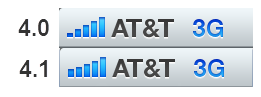 Vergrote streepjes onder iOS 4.1 (bron: Cnet)