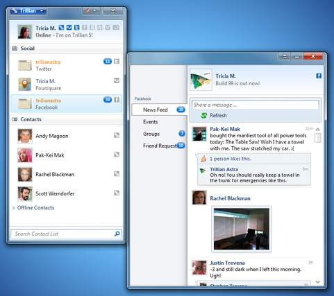 Trillian Astra 5.0 screenshot (481 pix)