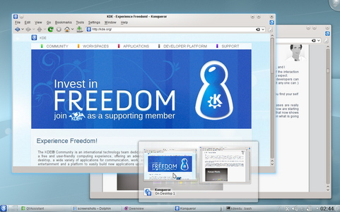 KDE Development Platform, Applications en Plasma Desktop screenshot