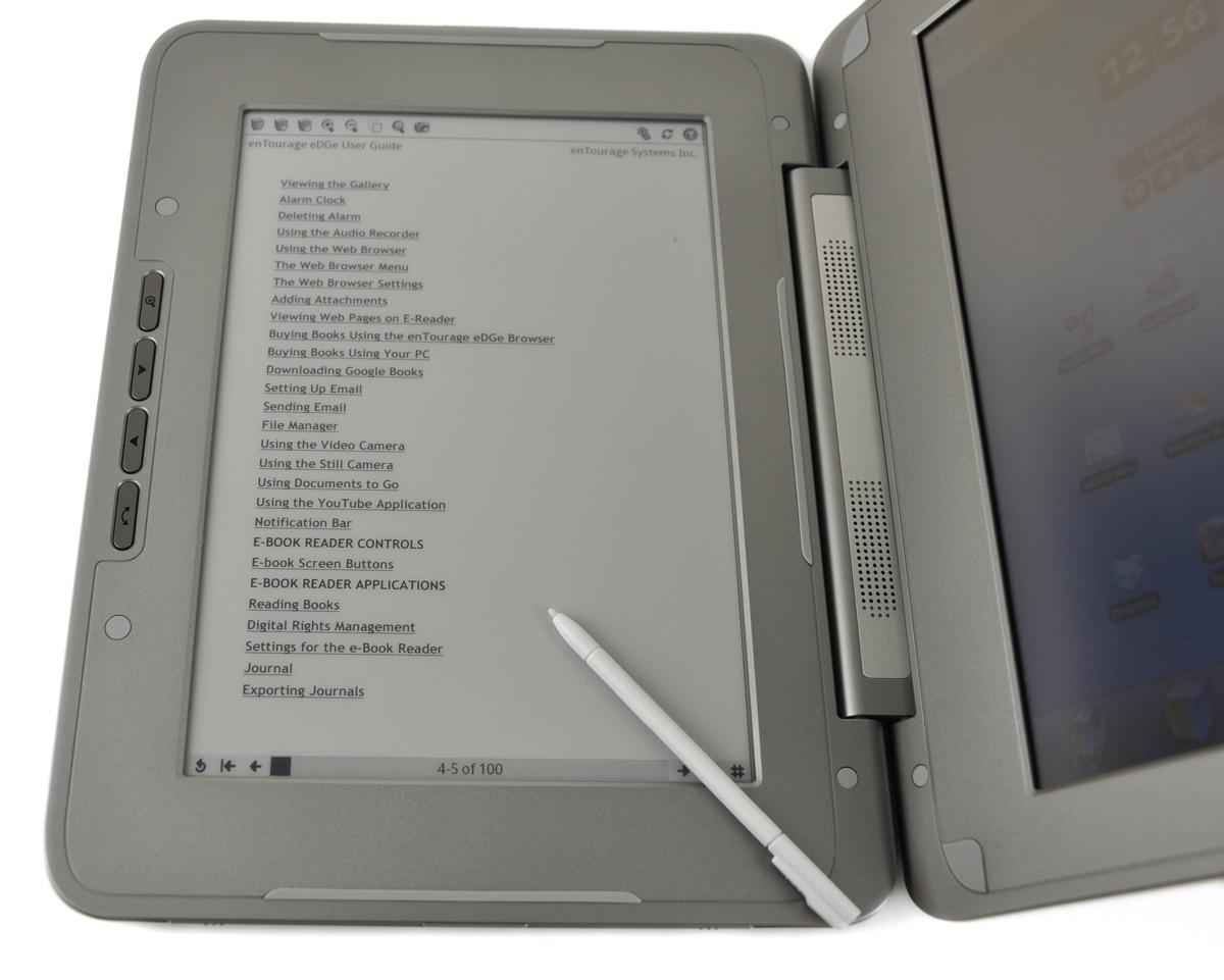 E-readerfight: Samsungs E60 versus Entourage eDGe - Review - Tweakers