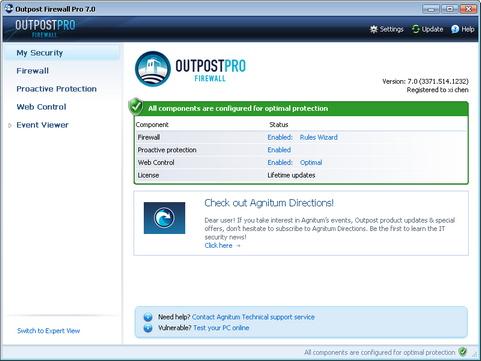 Outpost Firewall Pro 7 screenshot