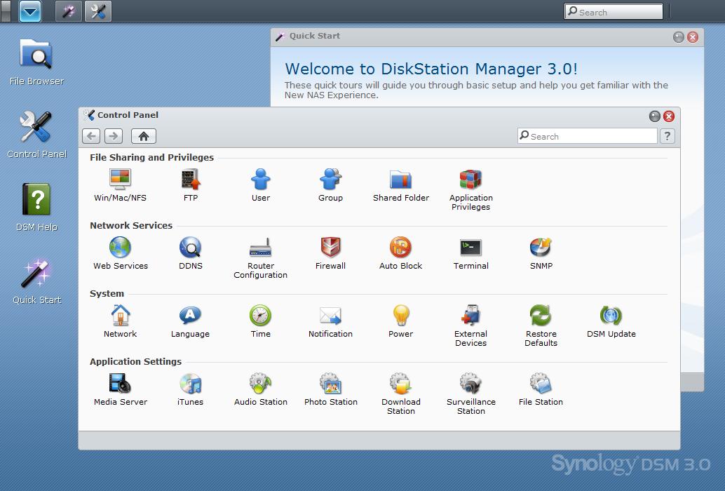 Firmware-update: Synology Disk Station Manager 3.1 build 1553 bèta - Computer - Downloads - Tweakers