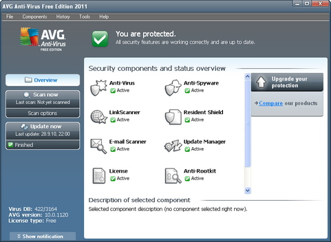 AVG Anti-Virus Free Edition 10 screenshot