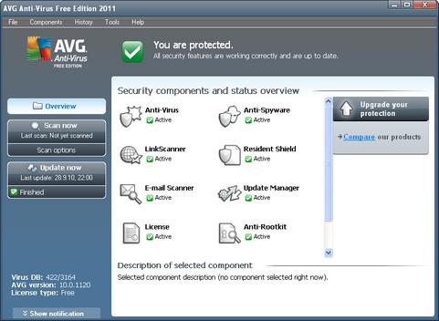 AVG Anti-Virus Free Edition 10 screenshot