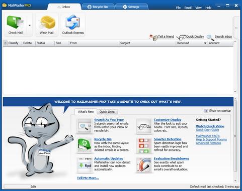 Mailwasher Pro 2010 screenshot (481 pix)