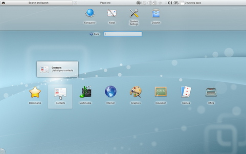 KDE Software Compilation 4.5 screenshot