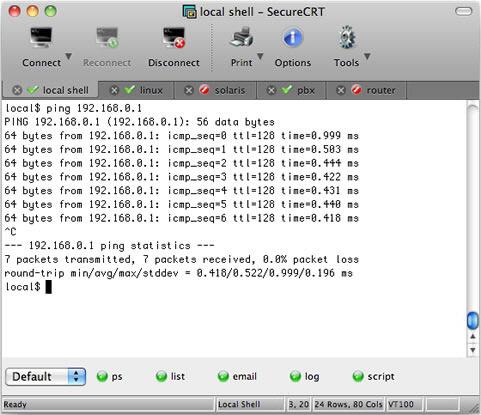 SecureCRT 6.6.0 screenshot
