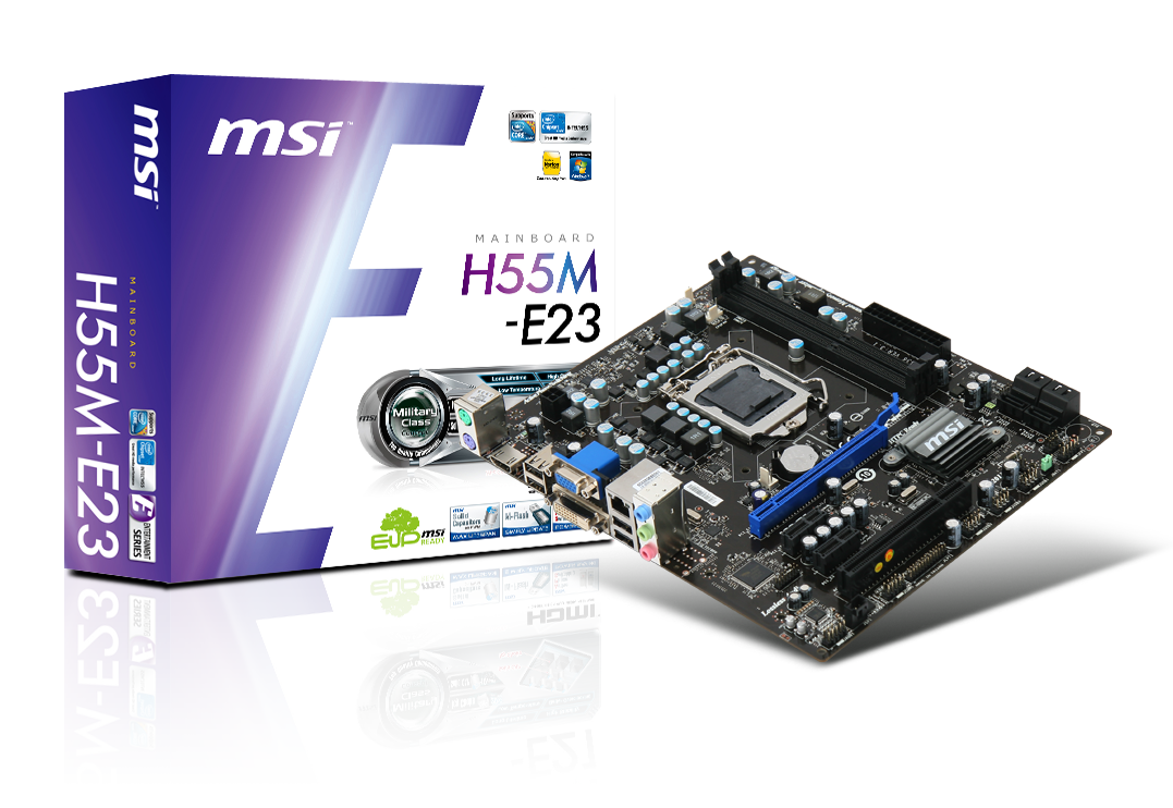 MSI H55M-E23 - Prijzen - Tweakers