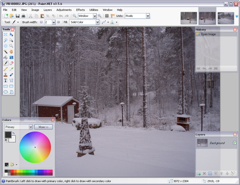 Paint.NET 3.5.6 build 3972 screenshot (481 pix)