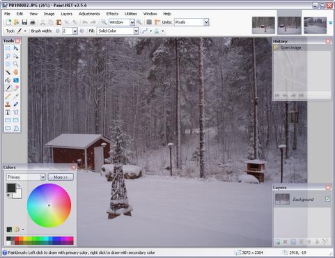 Paint.NET 3.5.6 build 3972 screenshot (481 pix)