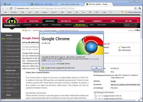 Google Chrome 8.0 screenshot (481 pix)