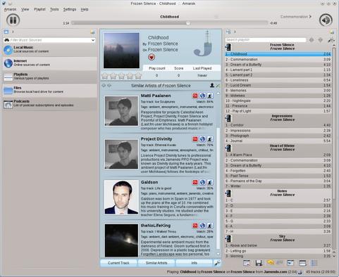 Amarok 2.4 screenshot