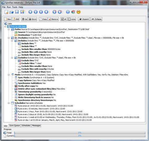 DirSync Pro 1.4 screenshot (481 pix)