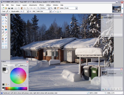 Paint.NET 3.5.7 bèta build 4058 screenshot (481 pix)