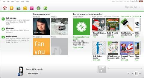 Nokia Ovi Suite 3.0.0.290 screenshot (481 pix)