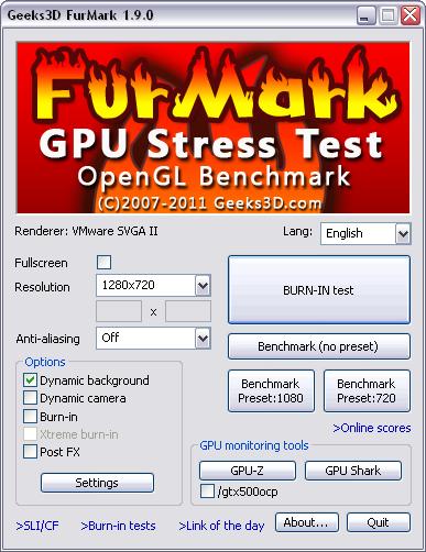 FurMark 1.9.0 screenshot