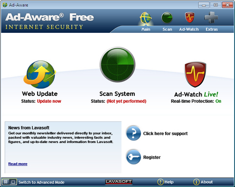 Ad-Aware 9.0 screenshot (481 pix)