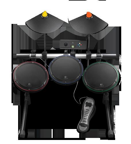 Logitech Wireless Drum Controller for Xbox 360 Zwart, Xbox 360