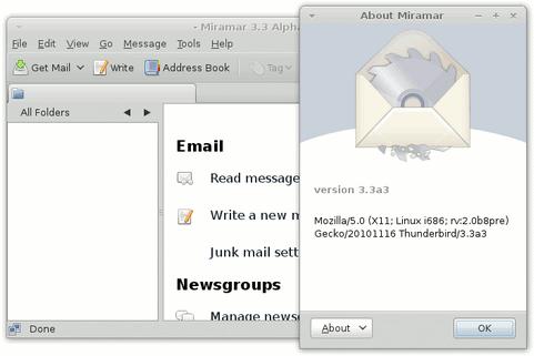 ozilla Thunderbird 3.3 alpha screenshot (481 pix)