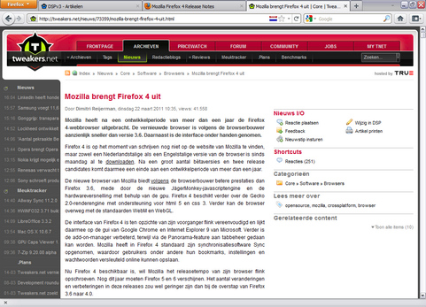 Mozilla Firefox 4.0 screenshot